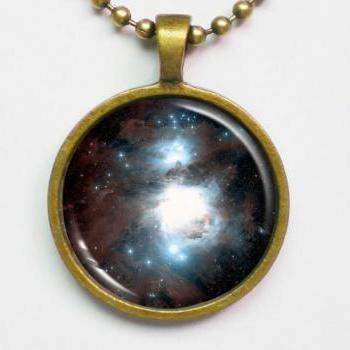 Orion Nebula Necklace- Astronomy Necklace- Galaxy Series